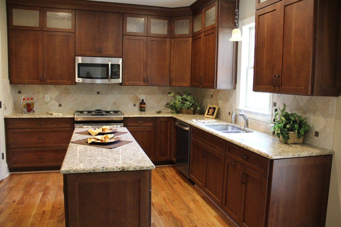 Custom Made Cherry Cabinets With Custom Color By Youngsville Cabinet Company